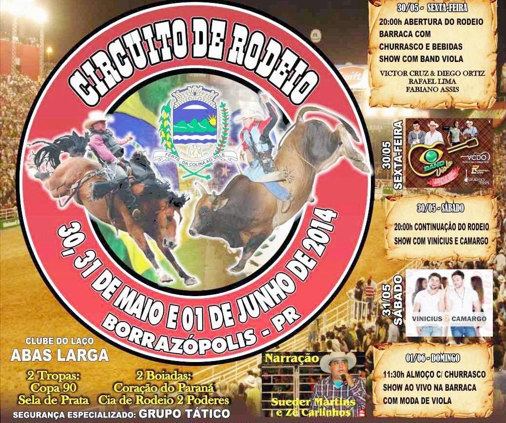 Imagens do Rodeio em Borrazópolis 1º Dia de Festa