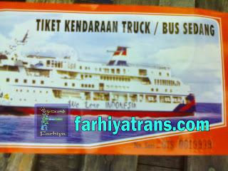 tiket kirim bus truk dengan kapal