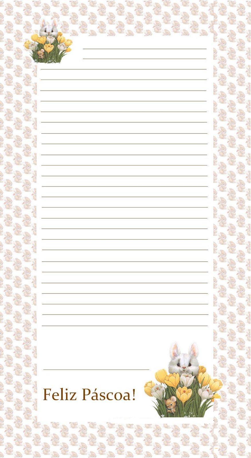 artes da livia  papel de carta coelho