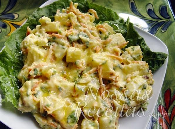 receita de salada de legumes cremosa com maionese light