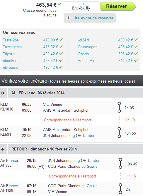 Air France Johannesbourg