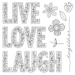 CTMH's May Stamp of the Month - Live, Laugh, Love (S1705)