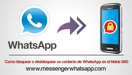 Como bloquear o desbloquear un contacto de WhatsApp en el Nokia S60