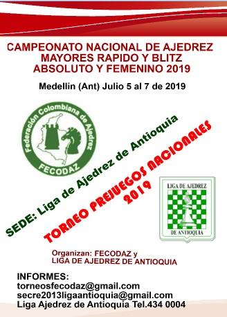 CAMPEONATO NACIONAL DE AJEDREZ MAYORES RAPIDO Y BLITZ ABSOLUTO Y FEMENINO (Dar clic a la imagen)