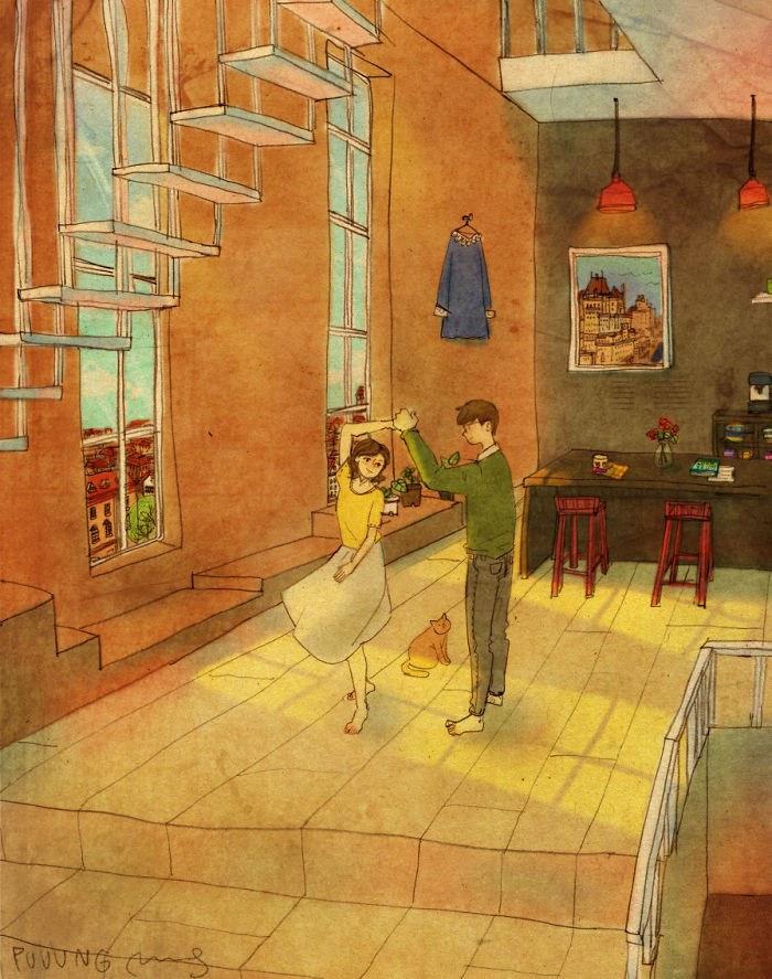 cute real love cartoon