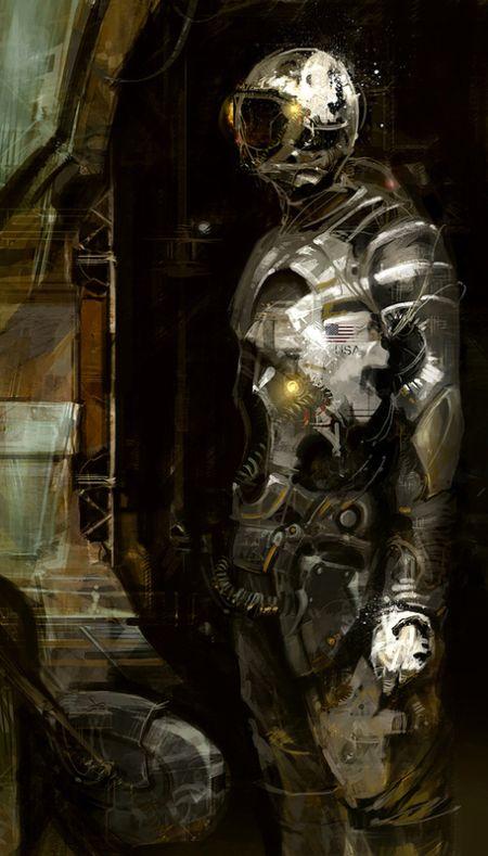 Richard Anderson flaptraps arte conceitual ilustrações pinturas games fantasia ficção científica Astronauta americano