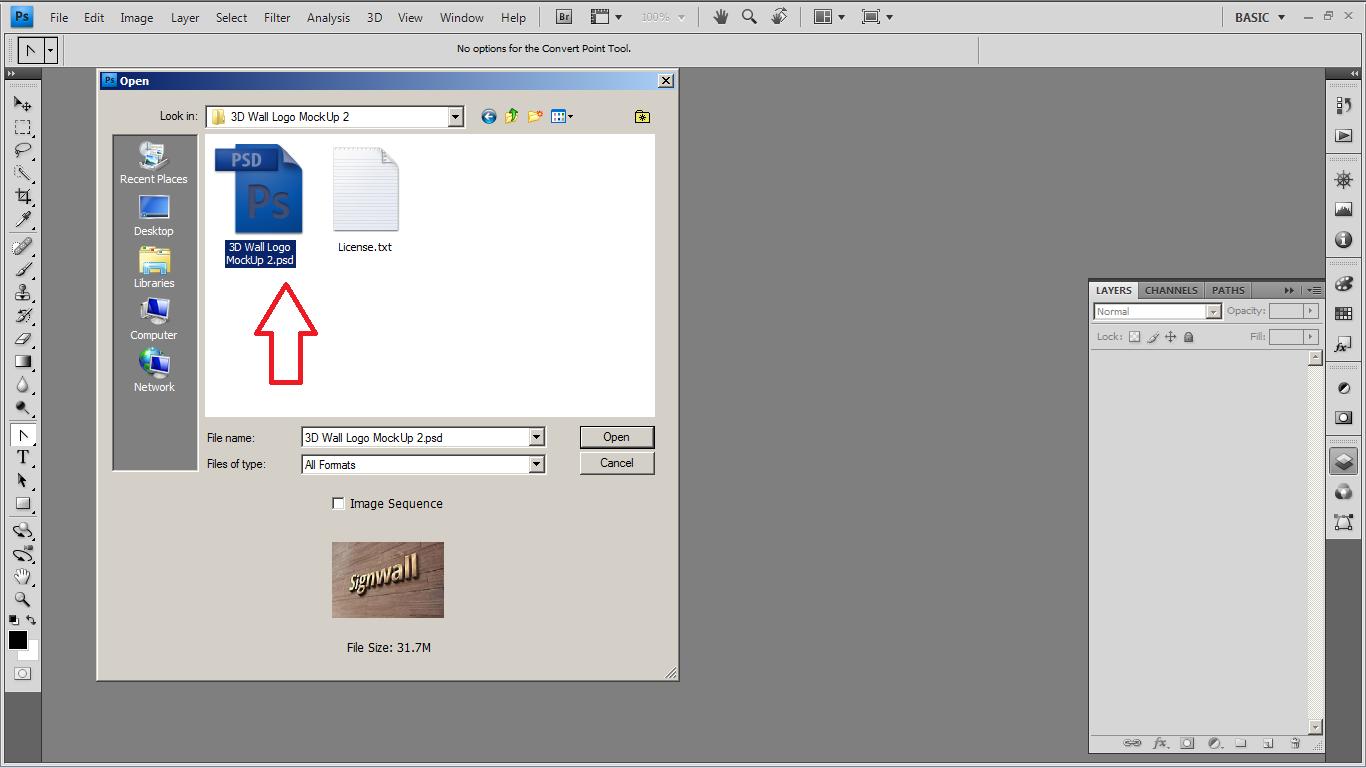 Membuat Efek 3D Pada Logo Menggunakan Photoshop (MOCKUP)