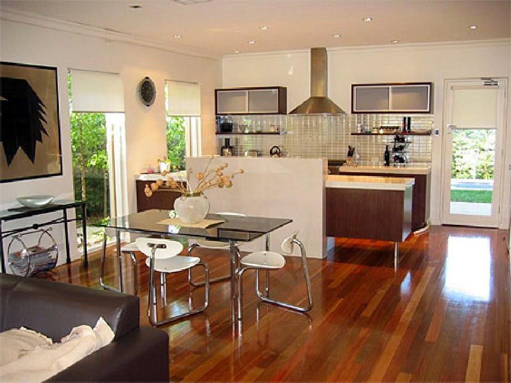 #713B1C RedLar: Cozinha e sala no mesmo ambiente 1024x768 píxeis em Como Decorar Sala De Estar E Jantar No Mesmo Ambiente