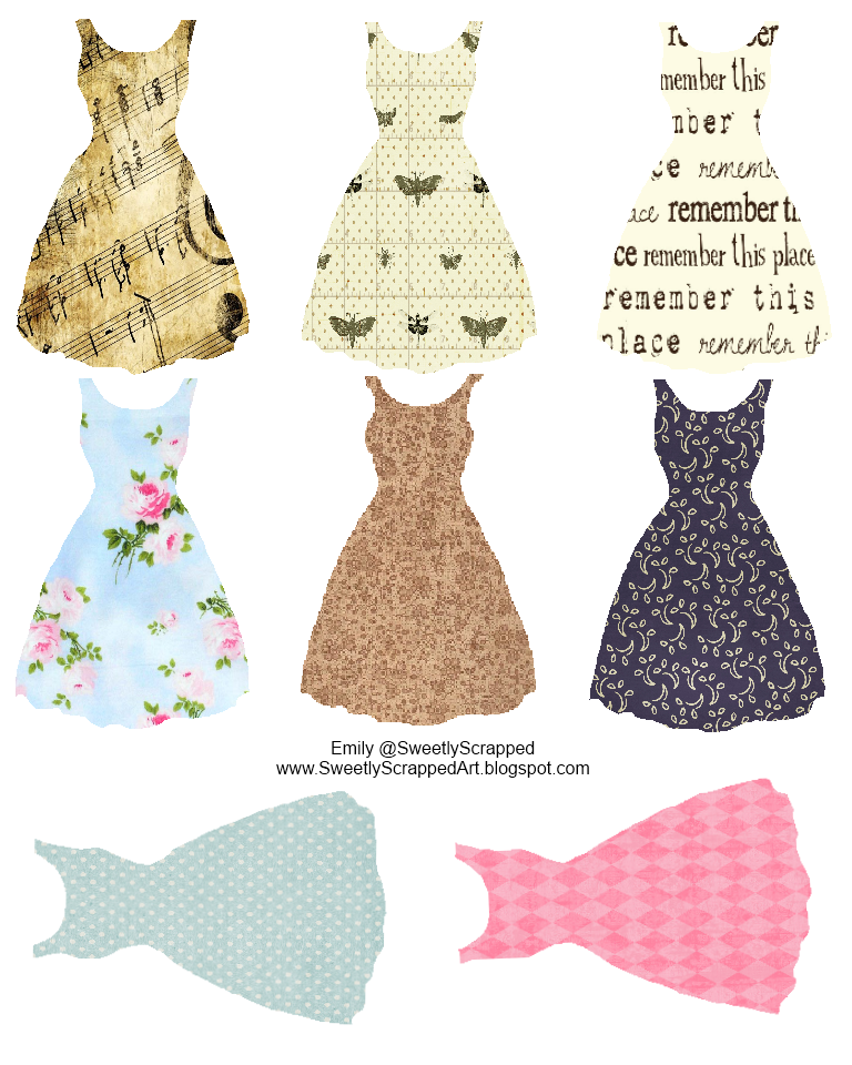 Sweetly Scrapped: Printable Vintage Inspired Dresses