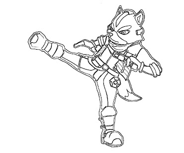 #9 Fox McCloud Coloring Page