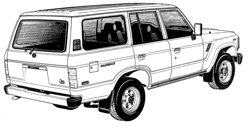 upbeat sitdown  print  u0026 color your own land cruiser