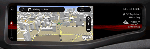 QNX 2014 technology concept car - navigation