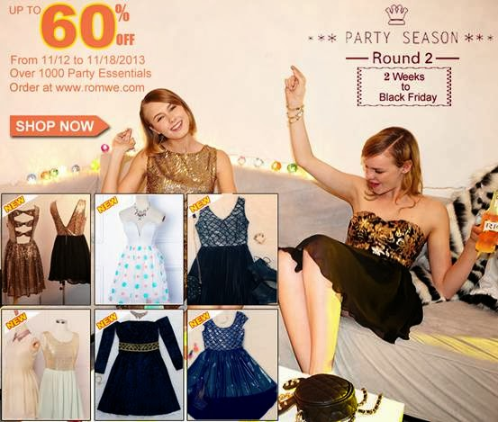 Romwe Party Season Sale Round 2 ! Up to 60% off!