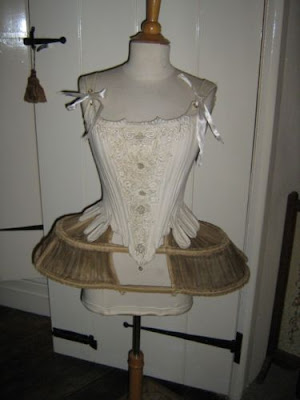 antique corset stomacher