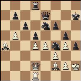 Partida de ajedrez Ernesto Palacios vs. Ricardo Calvo, posición después de 34.b5