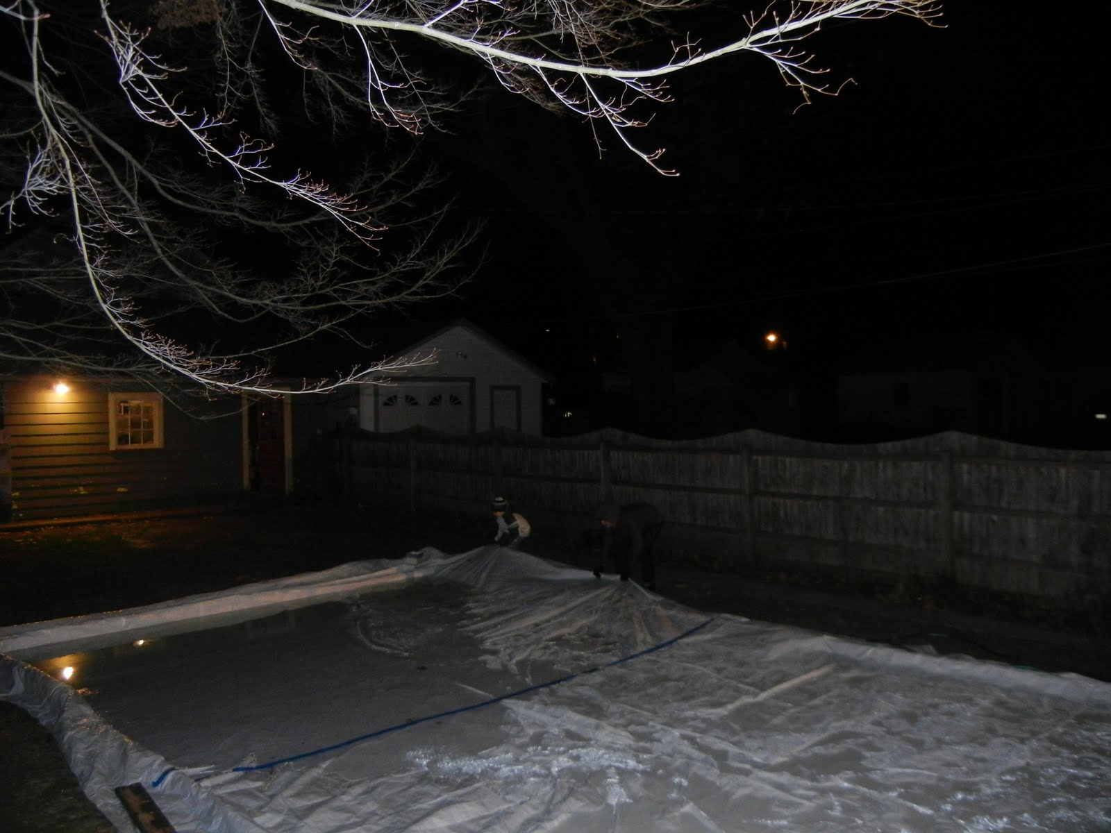 a party of five backyard ice rink update