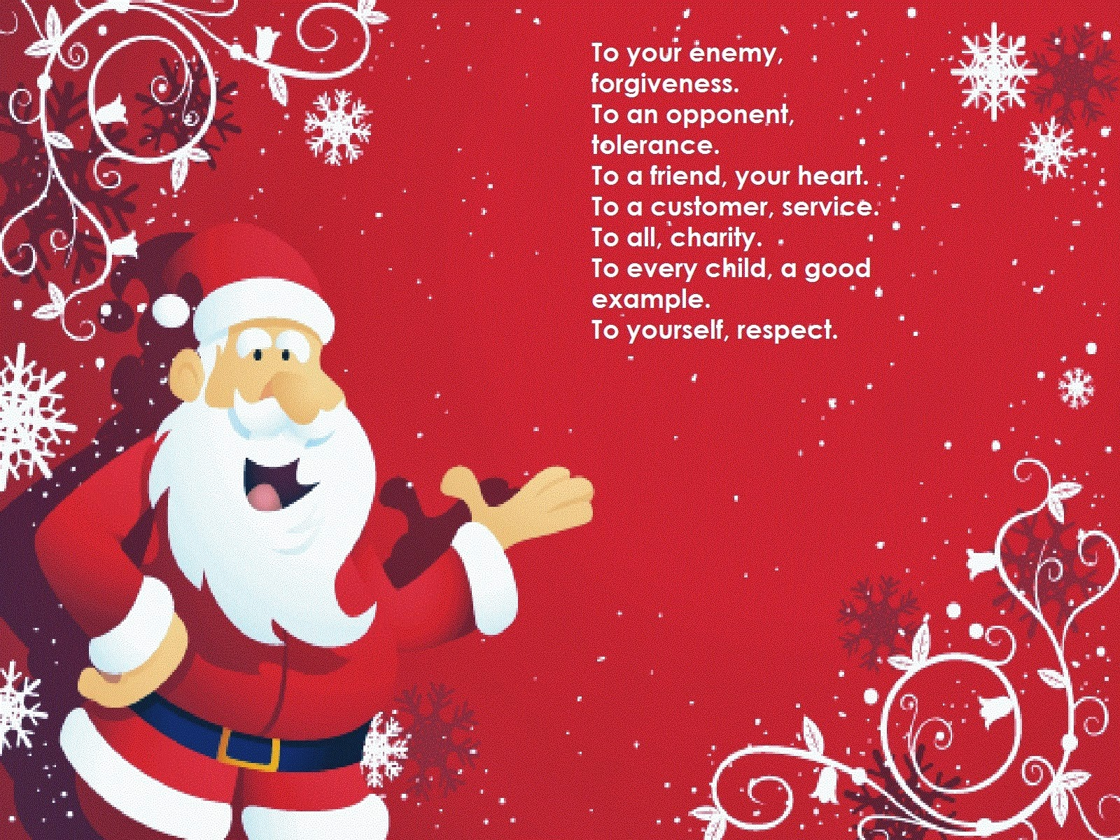 New Year  and Christmas  Santa Greetings Cards Word for Friends Lover