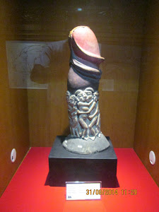 """HUMAN PENIS"" in Bali Museum in Denpasar. A symbol of ""GOOD LUCK"" in Balinese culture."