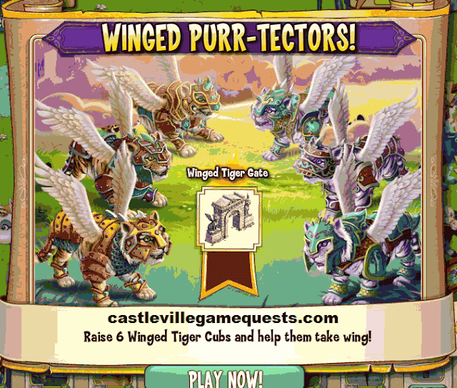 Castleville Game Wild About Winged Tigers Quests