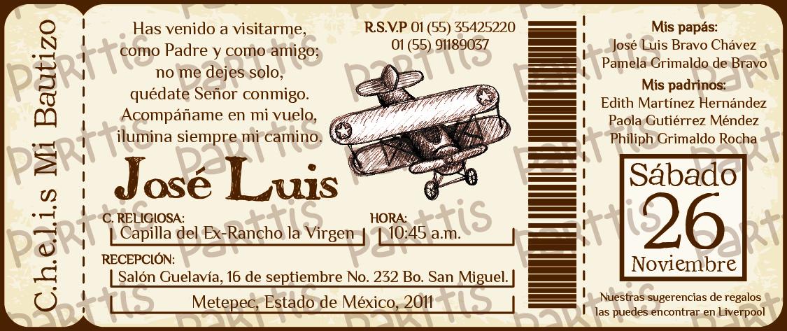 PARTTIS: Bautizo y primer cumple de Chelis :: Medios de transporte ...