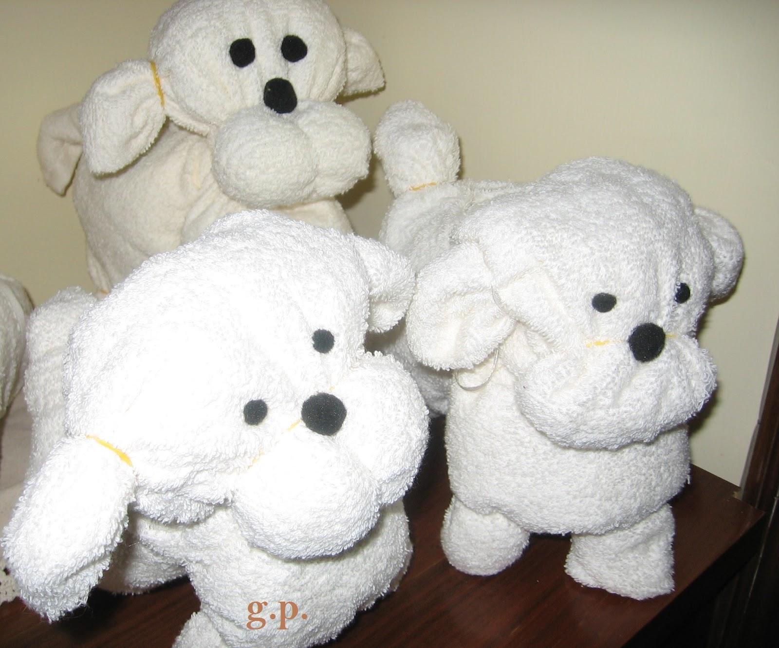 A me piace cosi 39 cagnolini con asciugamani for Animali con asciugamani