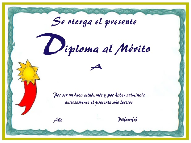 Diplomas De Reconocimiento En Blanco
