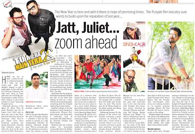 Jatt, Juliet Zoom Ahead - Punjabi Cinema News