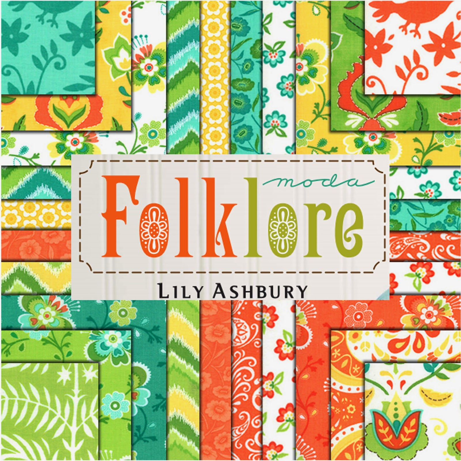 Moda FOLKLORE Quilt Fabric by Lily Ashbury for Moda Fabrics