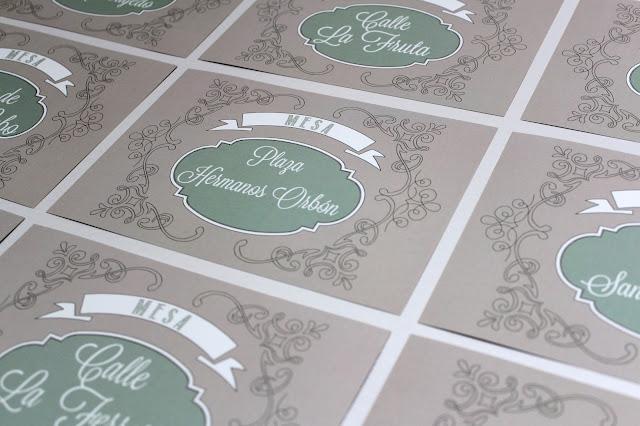 detalles de boda personalizados meseros nombres de calles