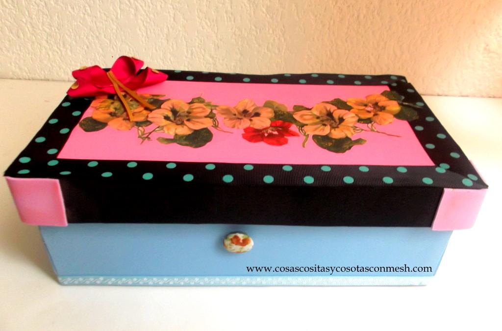 Como decorar una caja de zapatos cositasconmesh