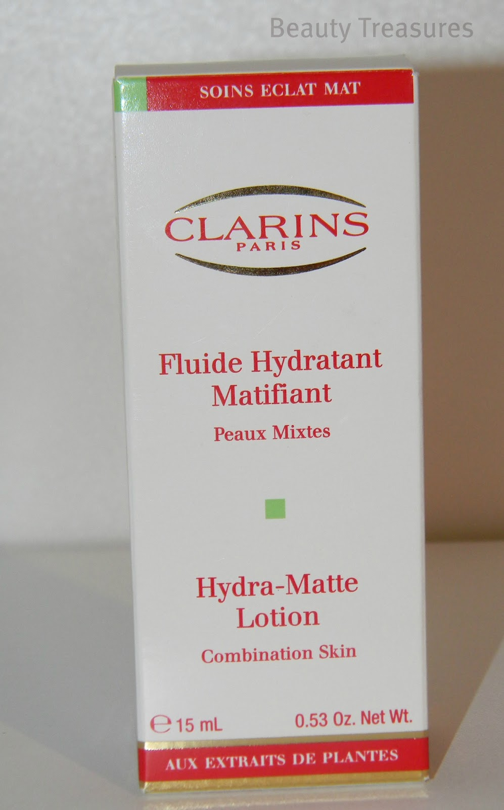 review clarins fluide hydratant matifiant beauty treasures. Black Bedroom Furniture Sets. Home Design Ideas