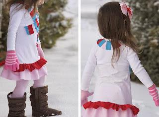 Vestido fácil para niña