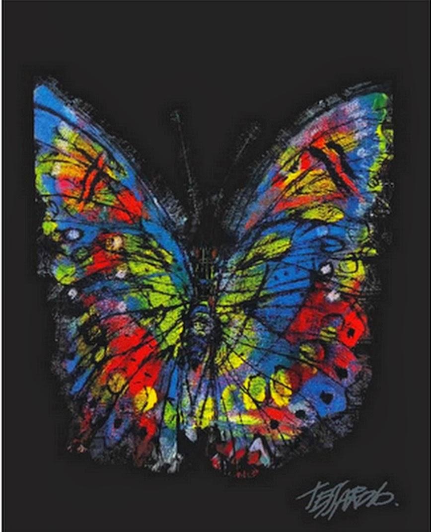 Cuadros modernos pinturas y dibujos pintados a mano mariposas al