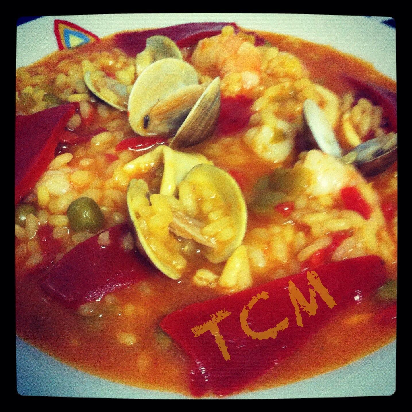 Thermococinamix arroz caldoso con calamares gambas y almejas - Arroz con gambas y almejas ...