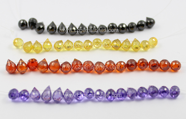 teardrop cubic zirconia beads pendants wholesale China