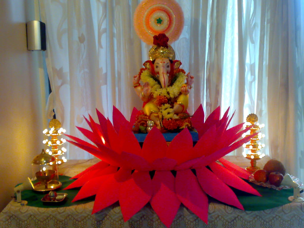 Religious wallpapers god is one for Background decoration for ganesh festival