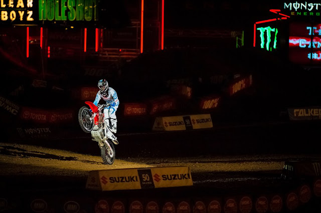 Trey Canard entering the arena in Oakland.