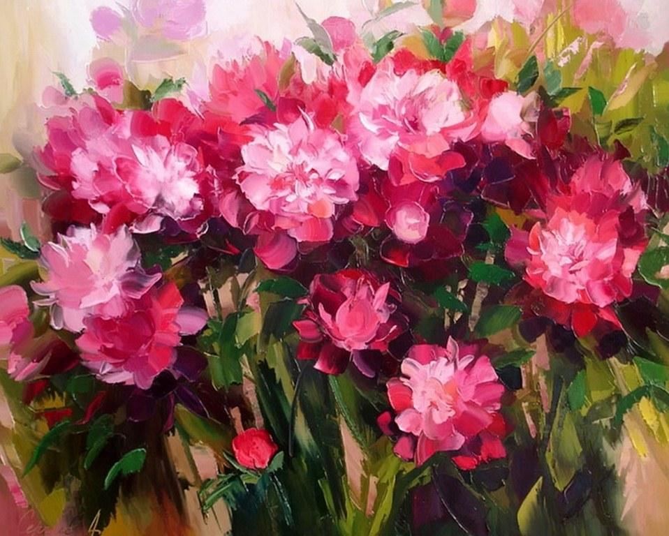 Cuadros Modernos: Pinturas, Flores Bodegones de Alexander Sergeev