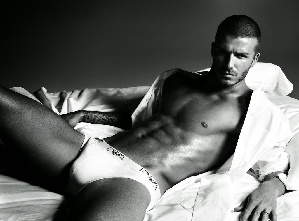 David Beckham on Emporio Armani 2014.