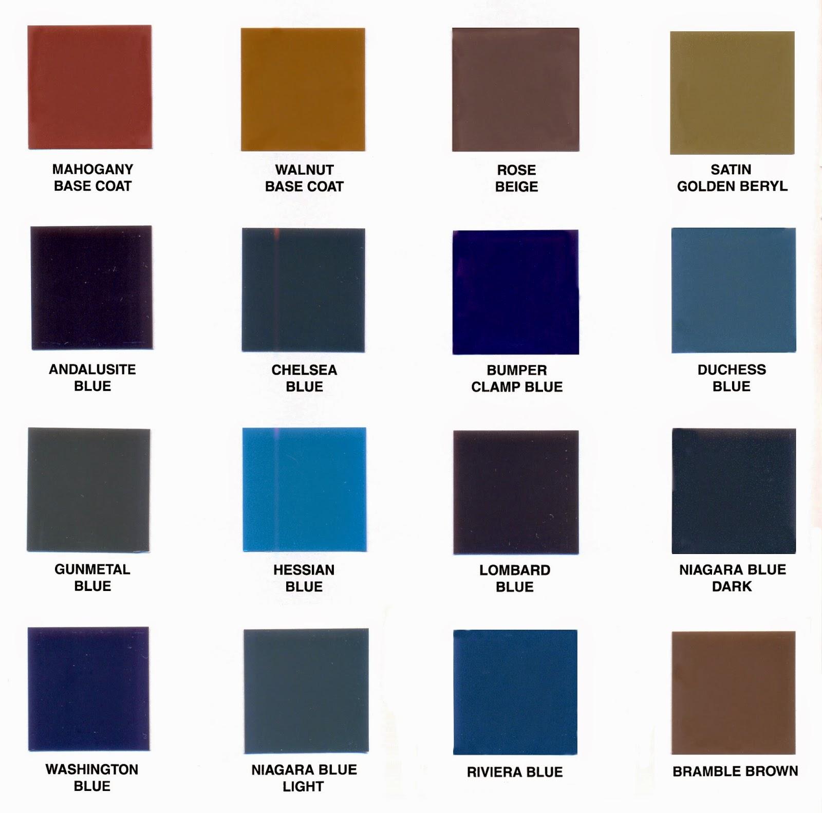 Ford modelo a zaragoza carta de colores del ford modelo a - Catalogo colores pintura ...