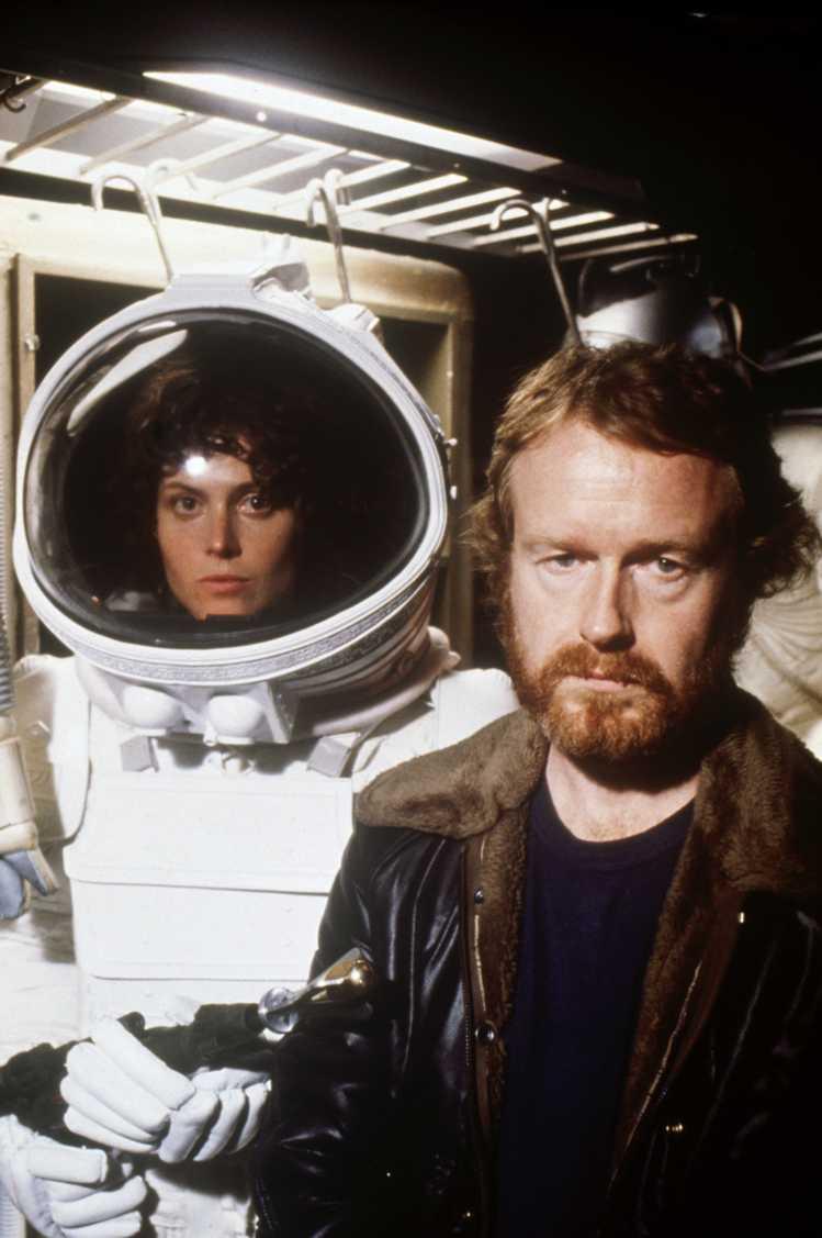 Creating A Movie Legend Alien: Sigourney Weaver As Ripley, Alongside  Director Sir Ridley Scott Images: Robert Penn For Fox