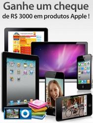 Promoção Ganhe R$ 3.000,00 em produtos da Apple.