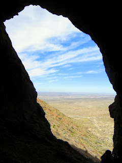 The view from the Aztec Caves