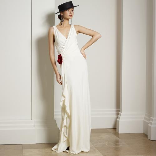 beyaz abiye, beyaz elbise, uzun abiye, uzun elbise, kolsuz abiye, v yaka abiye,
