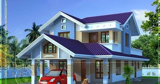 Narrow lot house plan indian house plans for Narrow house plans india