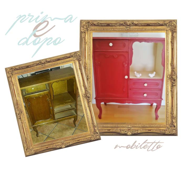 restyling shabby chic di mobiletto stle liberty