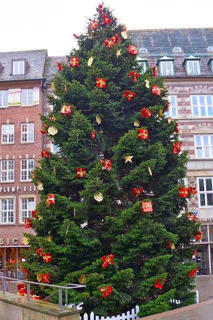 Christmas tree in Bremen, Germany.