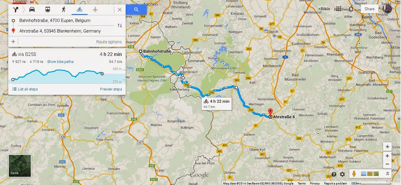 Cycling from Eupen to Frankfurt
