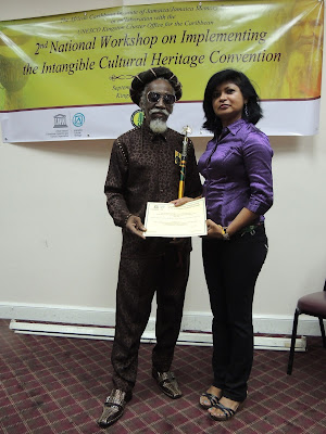 Bunny Wailer - The last of the Wailers from Bob Marley's band, The Wailers at one of our training sessions at a UNESCO workshop n intangible cultural heritage in Jamaica in September 2013