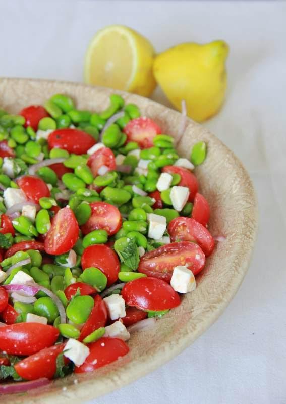 Salade met tuinbonen, tomaat & feta - www.desmaakvancecile.com